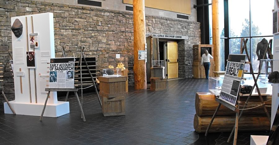 Exhibits at the Columbia Gorge Discovery Center & Museum