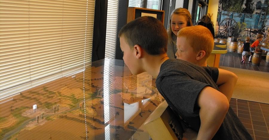 Interactive History Exhibits at Columbia Gorge Discovery Center & Museum