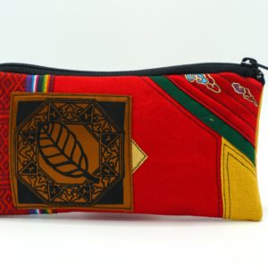 Handmade Red Fabric Pouch With Casara Buckthorn