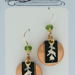 Earrings With Mixed Metals And Design