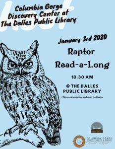 Columbia gorge discovery center and the dalles public library raptor read along