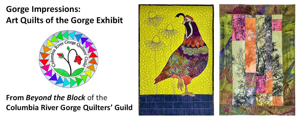 columbia gorge discovery center gorge impressions quilt exhibit slider